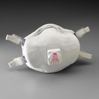 3M -  Model P100 Disposable Particulate Respirator With Cool Flow -  Exhalation Valve, Adjustable Straps