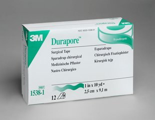 3M DURAPORE  POROUS Cloth Tape 12/ box  1