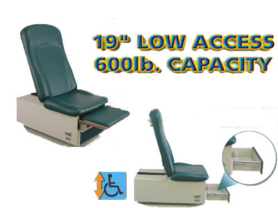 Power Hi-Lo & Manual Back Exam Table (Std.Premium Top) Low Access 19