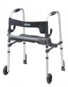 Adult, Clever-Lite LS Walker with Seat, Push Down Brakes and 5