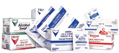 Alcohol prep pads 200/box   large Sterile