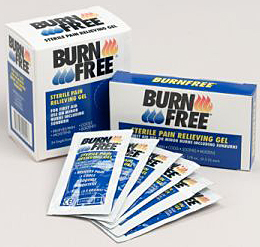 Burn Free Pain Relieving Gel Single Dose 25-count Box 1/8 oz. 25/dispenser box