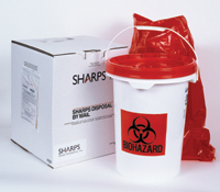 5 Gallon Medical Waste Disposable System by Mail